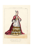 Lady of Rank, Reign of William and Mary, 1696 Giclee Print by Thomas Hailes Lacy