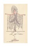 Woman in Fancy Dress Costume as a Fountain, Le Jet D'Eau Giclee Print