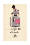 Woman in Perfume Bottle Costume Giclee Print