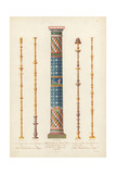 Mosaic Column and Murals from Pompeii Giclee Print by Wilhelm Zahn