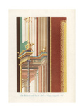 Mural from the House of Apollo at Pompeii Giclee Print by Wilhelm Zahn