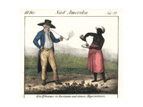 Dutch Planter and Slave Girl on a Surinam Plantation Giclee Print