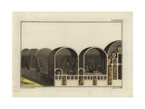 Cross-Section of Roman Baths Giclee Print by Robert von Spalart