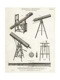 Astronomical Telescopes Giclee Print by J. Farey