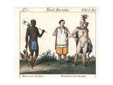 Tattooed Acadian Man, and Male and Female Natives of Canada Giclee Print