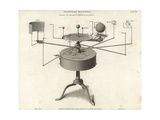 Perspective View of the Improved Orrery for Mean Motions Giclee Print by J. Farey