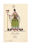 Woman in Poker Player Fancy Dress Costume Giclee Print