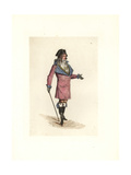 Costume of Dorlis, Muscadin in the Fashion of 1796 Giclee Print by Auguste Etienne Guillaumot