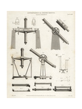 Transit Instruments for Moving Astronomical Instruments Giclee Print by J. Farey