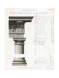 Doric Order Capital, Column and Base Giclee Print by Wilson Lowry