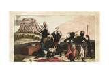 Nzinga, Angolan Princess, Ordering the Execution of Warriors Giclee Print