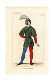 Costume of a French Page, 14th Century Giclee Print by Leopold Massard