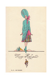 Woman in Fancy Dress Costume as Miss Helyett Giclee Print