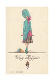 Woman in Fancy Dress Costume as Miss Helyett Giclee Print