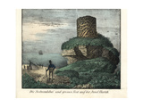 View of Seal Bay and Large Nest on Hartik Island, South Australia Giclee Print