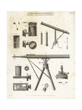 Astronomical Instruments: Achromatic Telescopes and Dynameters Giclee Print by J. Farey