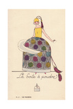 Woman in Powder Box Costume Giclee Print