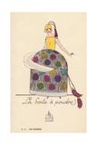 Woman in Powder Box Costume Giclee Print