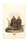 Hibernian Male and Female Costume, Post-Roman Era Giclee Print by Charles Hamilton Smith