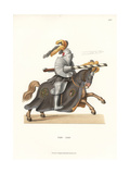 German Knight in Jousting Armor, 16th Century Giclee Print by Jakob Heinrich Hefner-Alteneck
