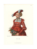 German Woman's Costume, 1510-1550 Giclee Print by Jakob Heinrich Hefner-Alteneck