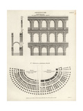 Roman and Veronese Ampitheatres Giclee Print by Wilson Lowry