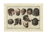 Masks of Mutes, Comedy, Tragedy, of Two Satyrs and a Faun Giclee Print by Robert von Spalart