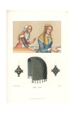 Women's Costume of the Early 16th Century Giclee Print by Jakob Heinrich Hefner-Alteneck