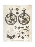 Mechanism of a Repeating Watch Giclee Print by J. Farey
