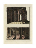 Interior of the Roman Pantheon Giclee Print by Robert von Spalart
