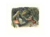 Elf Prince Rejected by a Fairy on a Toadstool Giclee Print by Richard Doyle