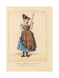 Costume of a Woman of Nevers, France, 19th Century Giclee Print by Thomas Hailes Lacy