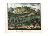 Europeans Meeting with the Aborigine Natives of Australia Giclee Print