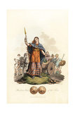 Boadicea Queen of the Iceni, Roman Era Giclee Print by Charles Hamilton Smith