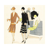 Women in Fashionable Dresses in a Hotel Lobby from 1926 Giclee Print