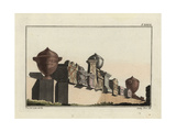 Roman Funeral Stones and Urns Giclee Print by Robert von Spalart