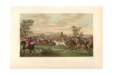 French Fox Hunt on Horseback, Circa 1800 Giclée-Druck von Carle Vernet