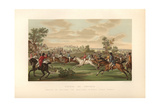 French Fox Hunt on Horseback, Circa 1800 Giclee Print by Carle Vernet