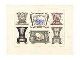 Flower Pots or Jardinieres Giclee Print by Edouard Garnier
