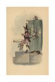 Boulevard Performers, Paris, Circa 1815 Giclee Print