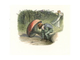 Elf Sits Brokenhearted on a Toadstool as a Fairy Runs Away Giclee Print by Richard Doyle
