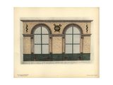 Shopfront to Boutet's Weapons Store, Paris, Circa 1800s Giclee Print by Hector-Martin Lefuel