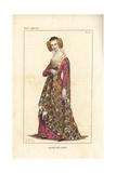 Agnes De Loisy, Wife of Jean Chastelain De Terote Giclee Print by Leopold Massard