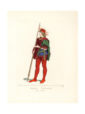 Young Venetian Man with Banner, 15th Century Giclee Print by Paul Mercuri