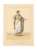 Ancient Hebrew Female Costume from Jean Racine's Tragedy Esther Giclee Print by Thomas Hailes Lacy