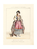 Costume of a Mexican Lady, 19th Century Giclee Print by Thomas Hailes Lacy