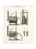 High-Pressure Steam Engine, Elevations, 19th Century Giclee Print by J. Farey