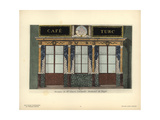 Shopfront of Emerie's Lemonade Shop and Cafe, Paris, Circa 1800 Giclee Print by Hector-Martin Lefuel
