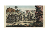 Funeral Among the Khoikhoi People of South Africa Giclee Print