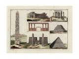 Egyptian Architecture Giclee Print by Robert von Spalart